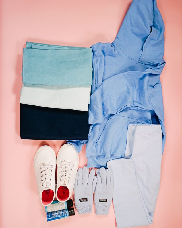 DIY Bluey Costume supplies