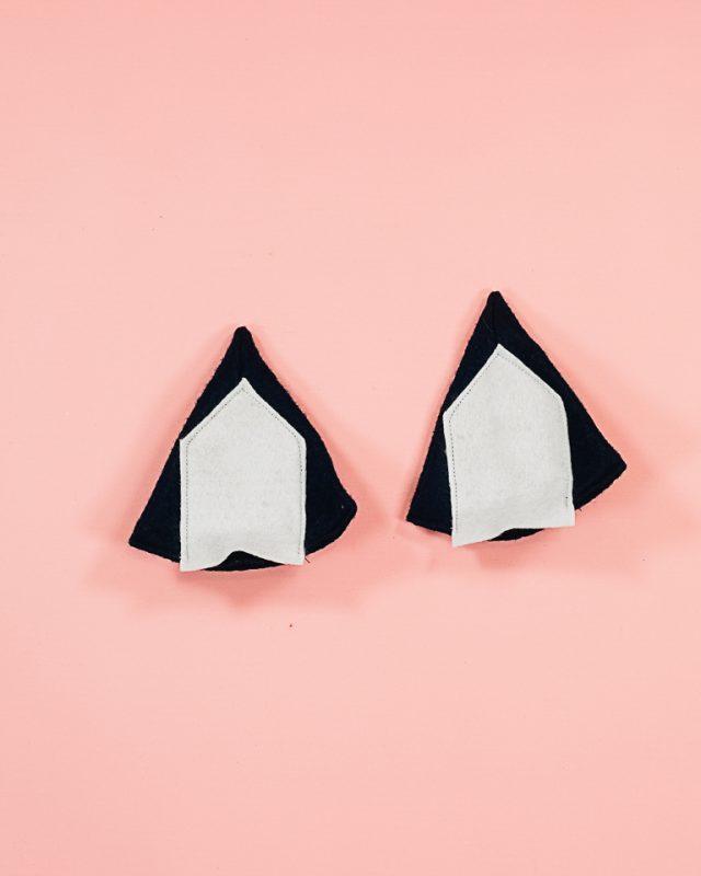 sew inner ear onto ears