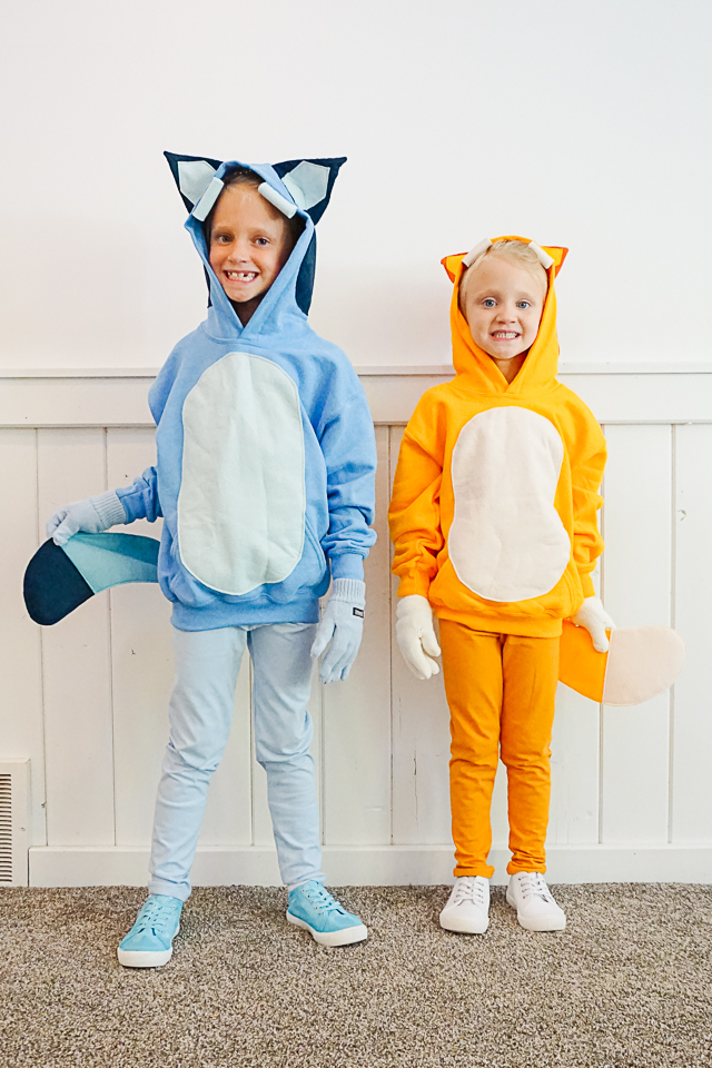 DIY Bluey and bingo Costume