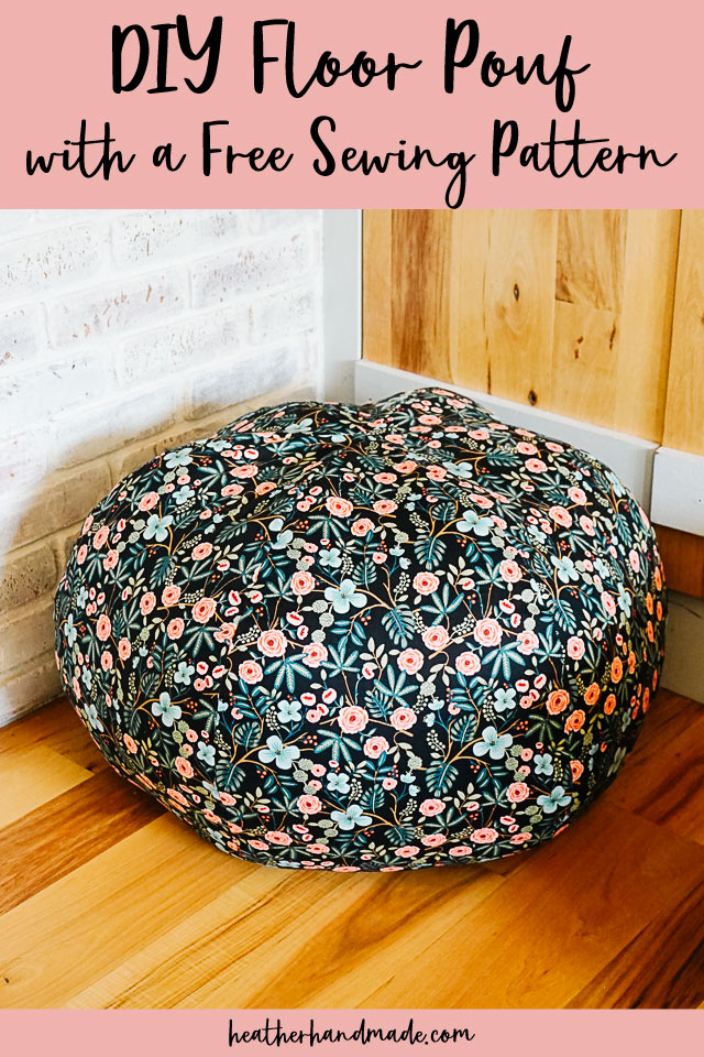 DIY Floor Pouf with Free Sewing Pattern
