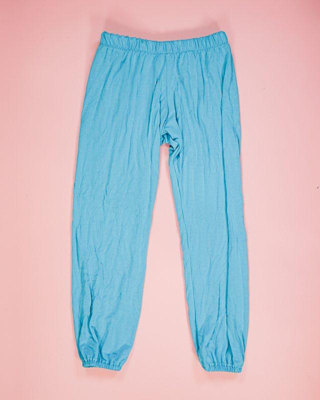 sew the upcycled elastic hem pants