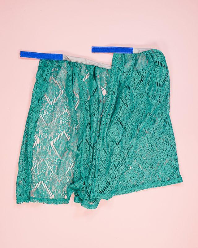 add velcro to ribbon skirt