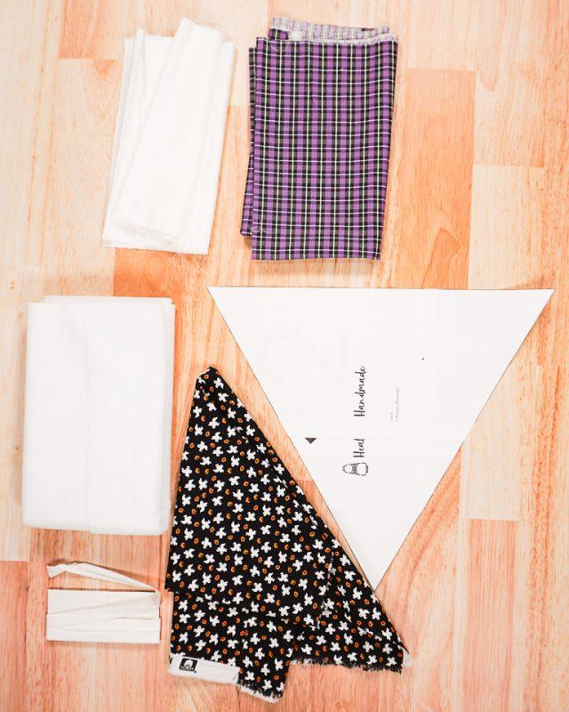 DIY Spiderweb Table Topper supplies