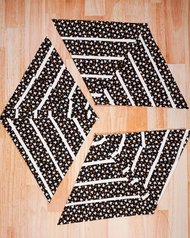 sew triangles together