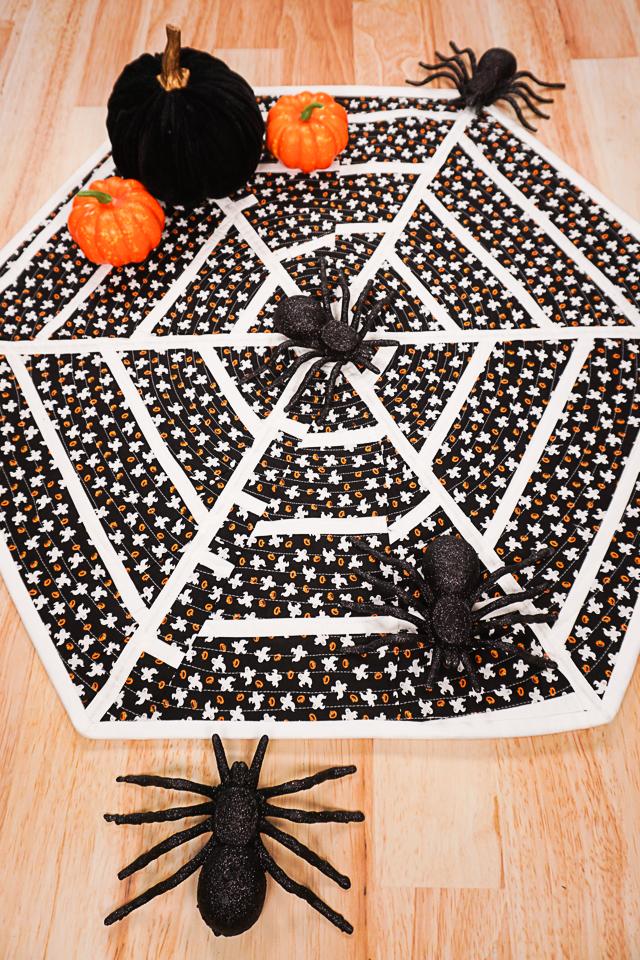 DIY Spiderweb Table Topper