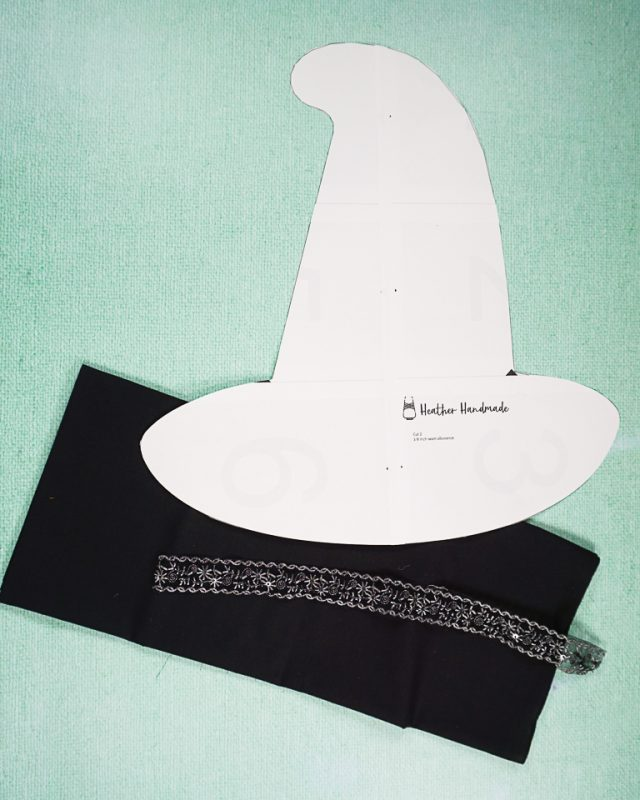 DIY Witch Hat Pillow supplies