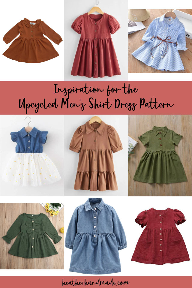 inspiration for the upcycled men's shirt dress pattern