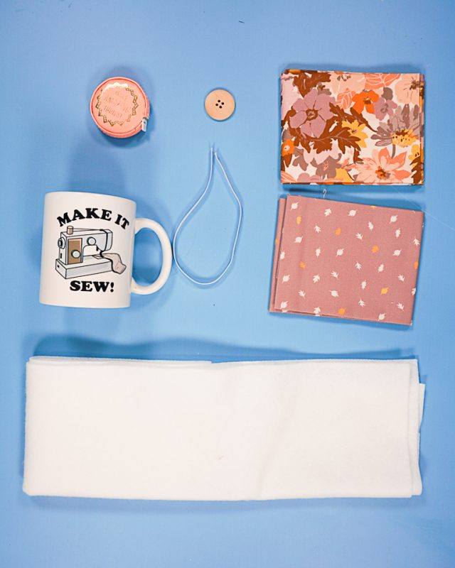 Sew a Mug Cozy supplies
