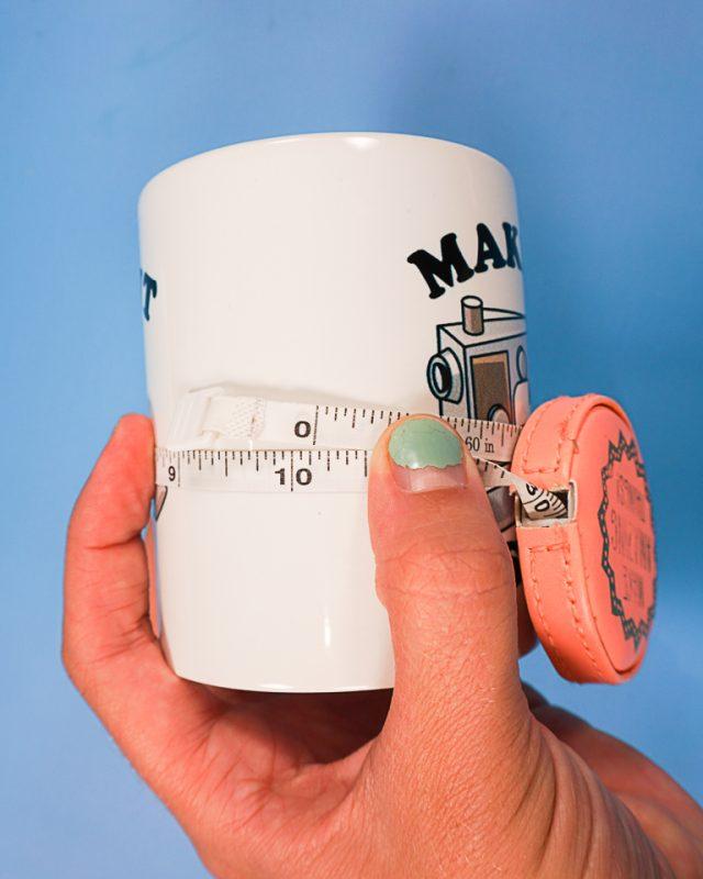 measure around mug