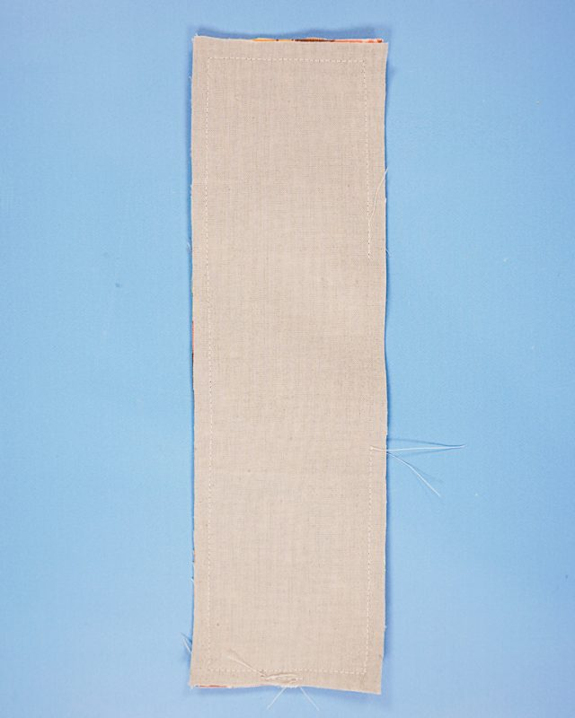 sew around rectangle and leave hole