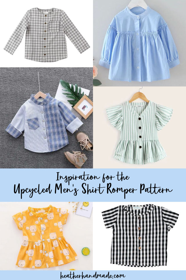 inspiration for the upcycled men's shirt romper pattern