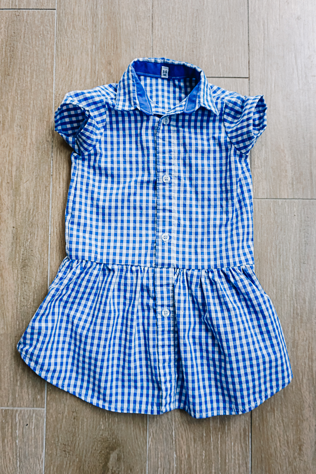upcycled men's shirt dress