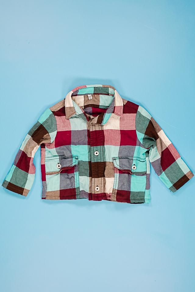 upcycled men's shirt
