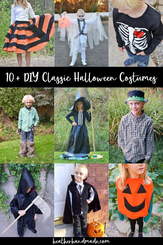 diy classic halloween costumes