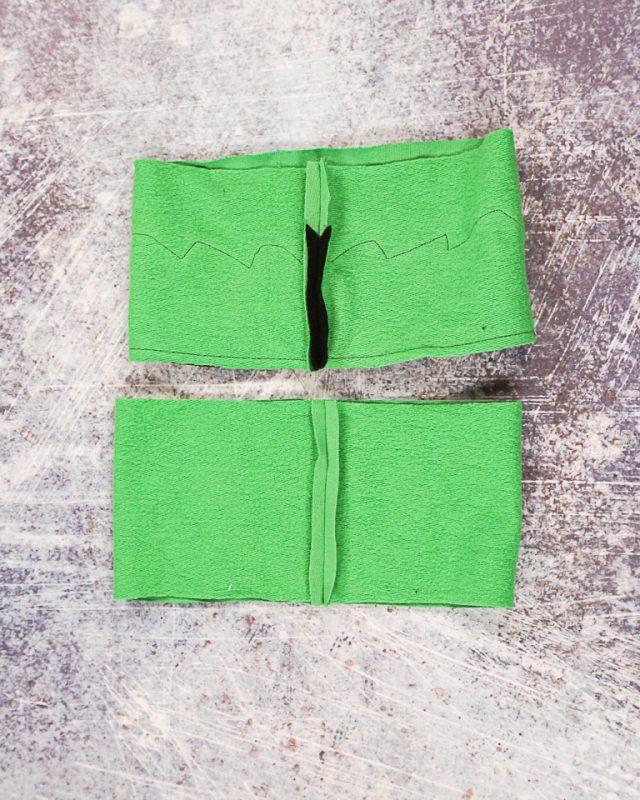 sew short ends right sides together