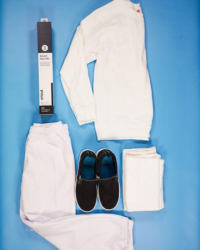 DIY Marshmello Fortnite Costume supplies