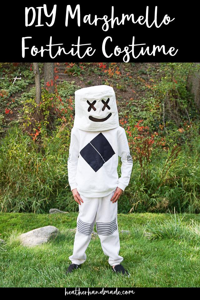 DIY Marshmello Fortnite Costume
