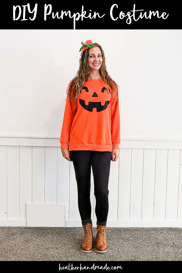 Easy DIY Pumpkin Costume for Adults