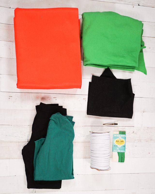 DIY Pumpkin Costume supplies
